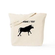 Custom Black Bull Tote Bag