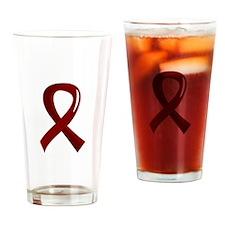 Awareness Ribbon 3 Amyloidosis Drinking Glass