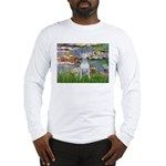 Lilies2-Bull Terrier (P) Long Sleeve T-Shirt