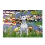 Lilies2-Bull Terrier (P) Postcards (Package of 8)