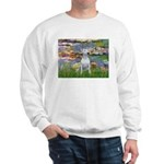 Lilies2-Bull Terrier (P) Sweatshirt