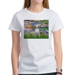 Lilies2/Bull Terrier (1) Women's T-Shirt