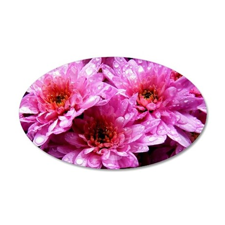 Flowers 35x21 Oval Wall Decal