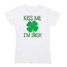 Kiss Me I'M Irish Girl'S Girl'S Tee