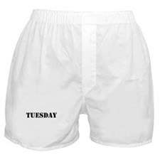 Tuesday Day Of The Week Boxer Shorts