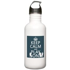 Keep Calm and Play On (strings) Sports Water Bottl