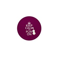 Keep Calm and Play On (double bass) Mini Button (1