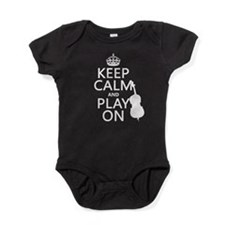 Keep Calm and Play On (double bass) Baby Bodysuit