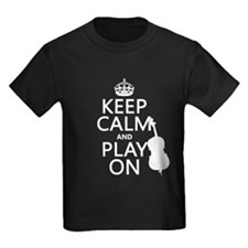 Keep Calm and Play On (double bass) T-Shirt