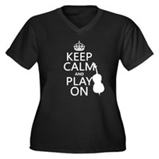 Keep Calm and Play On (double bass) Plus Size T-Sh