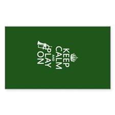 Keep Calm and Play On (cornet) Decal
