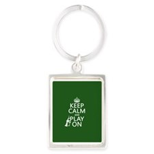 Keep Calm and Play On (cornet) Keychains