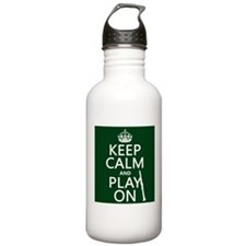 Keep Calm and Play On (clarinet) Sports Water Bott