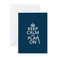 Keep Calm and Play On (bassoon) Greeting Cards