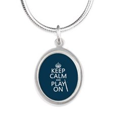 Keep Calm and Play On (bassoon) Necklaces