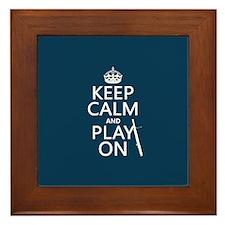 Keep Calm and Play On (bassoon) Framed Tile