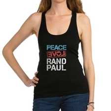 Peace Love Rand Paul Racerback Tank Top
