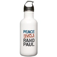 Peace Love Rand Paul Water Bottle