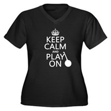 Keep Calm and Play On (banjo) Plus Size T-Shirt