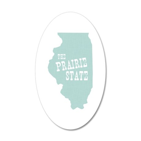 Illinois 20x12 Oval Wall Decal