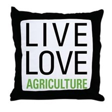Live Love Agriculture Throw Pillow