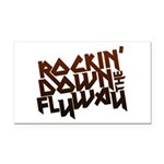 Rockin' Down the Flyway Rectangle Car Magnet
