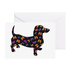 Butterfly Dachshund Greeting Card