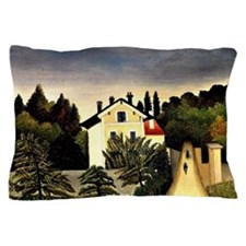 Landscape on Banks of the Oise, Area o Pillow Case