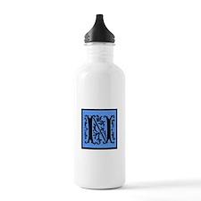 Blue Fleur Monogram N Water Bottle