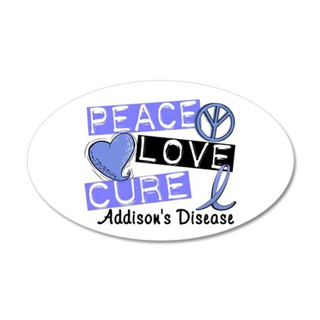 Peace Love Cure 1 Addison's 20x12 Oval Wall Decal
