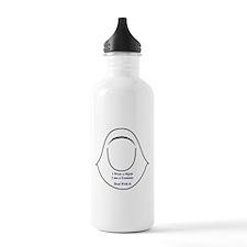 Hijab Wearing Feminist Water Bottle