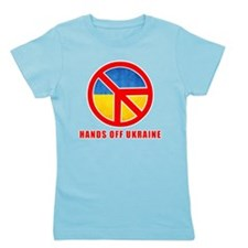 Hands Off Ukraine Girl's Tee