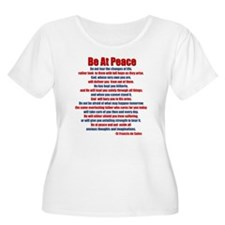 Be At Peace Plus Size T-Shirt