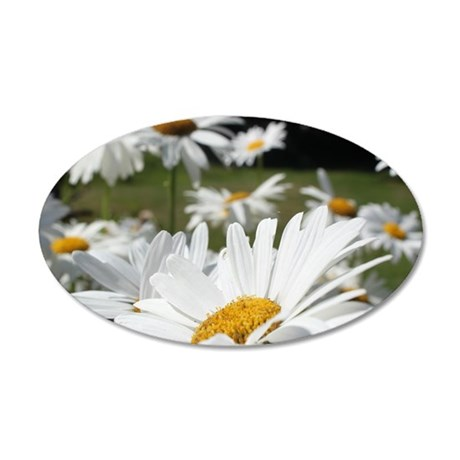 daisy 35x21 Oval Wall Decal