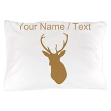 Custom Brown Buck Hunting Trophy Silhouette Pillow