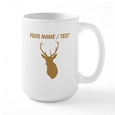 Custom Brown Buck Hunting Trophy Silhouette Mugs