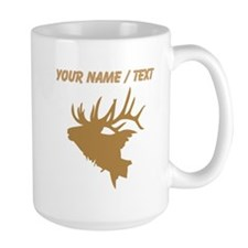Custom Brown Elk Head Mugs