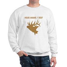 Custom Brown Elk Head Sweatshirt