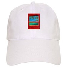ROTHKO IN RED BLUE GREEN 2 Baseball Baseball Cap