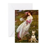 Windflowers Bull Terrier Greeting Cards (Pk of 10)