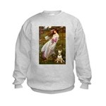 Windflowers Bull Terrier Kids Sweatshirt