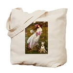 Windflowers Bull Terrier Tote Bag