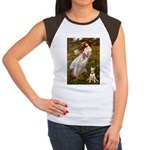 Windflowers Bull Terrier Women's Cap Sleeve T-Shir