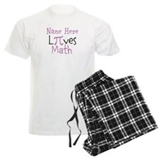 Pi PERSONALIZED Loves Math Pajamas