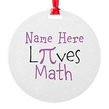 PERSONALIZE Pi Math Ornament