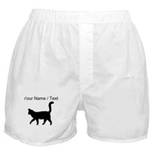 Custom Housecat Silhouette Boxer Shorts