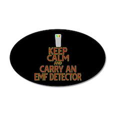 Keep Calm Carry EMF 20x12 Oval Wall Decal