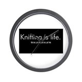 Knitting is Life Wall Clock