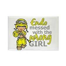 Combat Girl Endometrio Rectangle Magnet (100 pack)