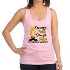 Courage Faith 1 Endometriosis Racerback Tank Top